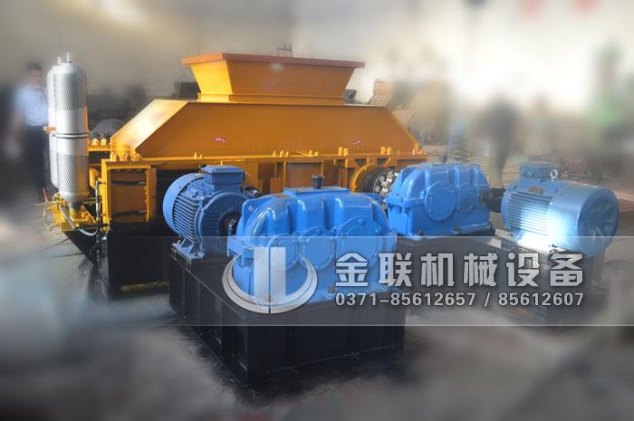 大型液压对辊制砂机设备发货图片